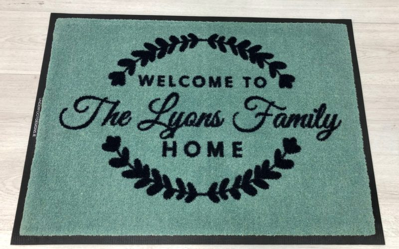 Personalised welcome mats make a house a home