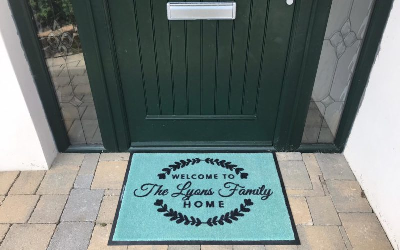 Personalise your welcome with our custom designed welcome mats