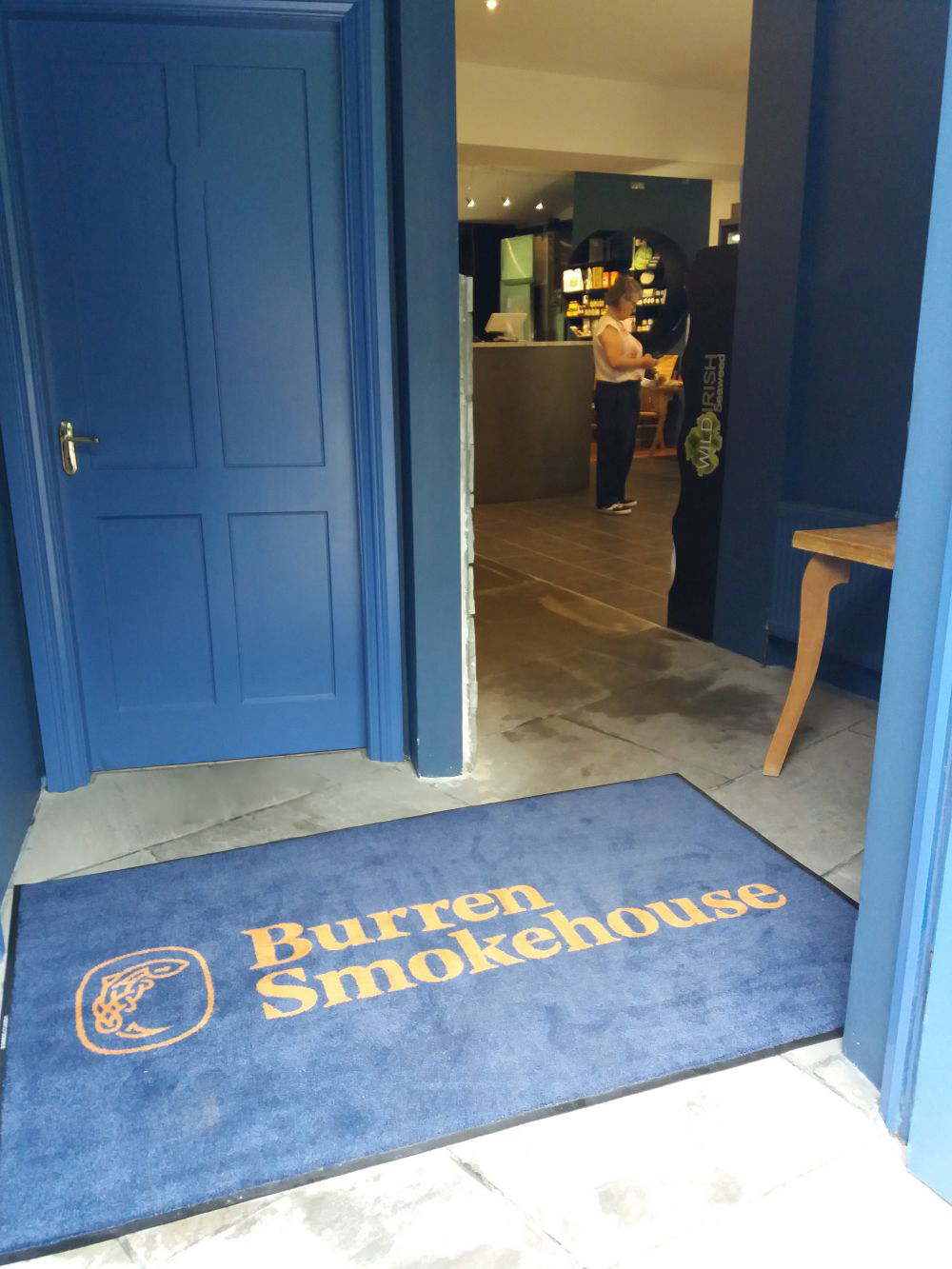 Burren Smokehouse branded entrance mate